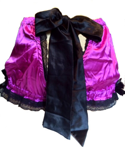 Retro Silky Satin Knickers Hot pants Bloomers Shorts with cheeky Back Hole Bow