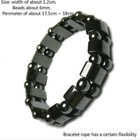 Weight Loss Round Black Stone Bracelet Health Care Magnetic Therapy Bracelet 5HU