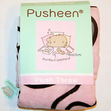 Pusheen Facebook Cat Plush Throw Blanket Purrfect Weekend Donuts Sleep Pillow