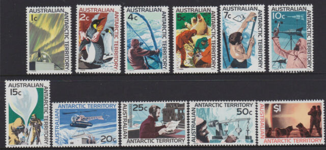 1966 AUSTRALIAN ANTARCTIC TERRITORY MINT UNHINGED SET OF 11 STAMPS