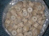 100 Round 1 Wood Knobs Unfinished Birch Pulls Cabinet Handles With Screws