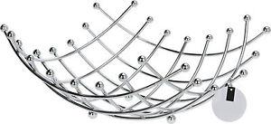 Design-Obstschale-chrom-eckig-Obst-Korb-Fruechte-Korb-Metallkorb-Deko-Schale