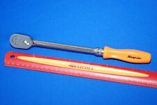 Brand New Snap On 38 Drive Dual 80 Orange Hard Grip Long Handle Ratchet