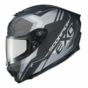 Scorpion-EXO-R420-Full-Face-Motorcycle-Street-Helmet-Matte-Grey-Small