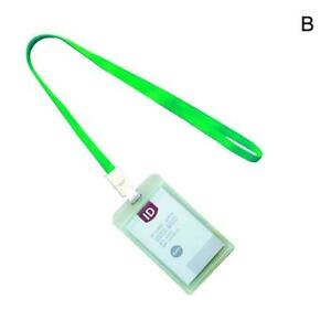 ID-Card-Holder-Badge-Credit-Plastic-Cases-Hard-Reel-Work-B8I7-Lanyard-Slim-V5W2