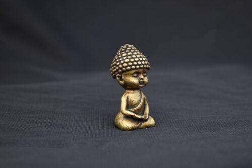 China Pure brass The little novice monk small statue