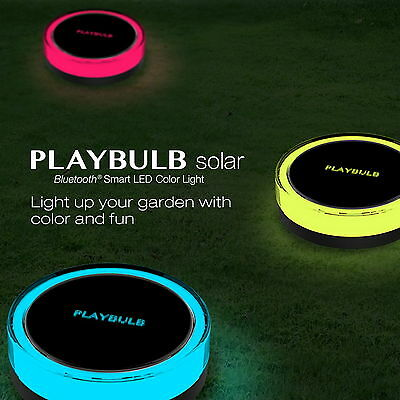 PLAYBULB Waterproof Color Smart LED Solar Power Garden Light Outdoor Lamp