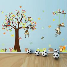 New Fashion DIY Cute Monkeys Tree Pattern Wall Stickers for kids Room Decorative