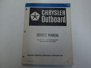 chrysler outboard 9 9 15 h p 250 sailor outboard motors service rh ebay com 5.5 HP Chrysler Outboard Parts Chrysler Outboard Motor Identification
