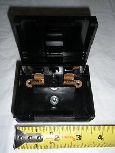 nos vintage ge bakelite fuse box holder panel 19d413045 two way image is loading nos vintage ge bakelite fuse box holder panel