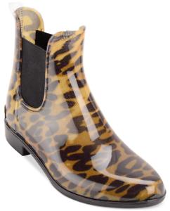 NEW Lauren Ralph Lauren Women's Tally Rain Boots Size 6 Brown Leopard Print $115