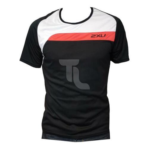 2xu Training Shirt MR2950 Laufshirt Sport Shirt NEU Herren schwarz weiß rot