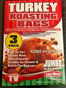 Image Is Loading 3 Pack Jumbo Size Turkey Roasting Bags Oven