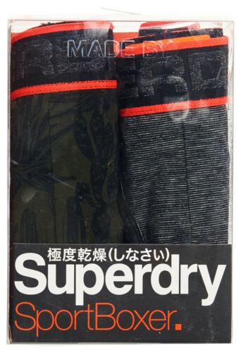 SUPERDRY S SPORT BOXER DOUBLE PACK Black Multipack