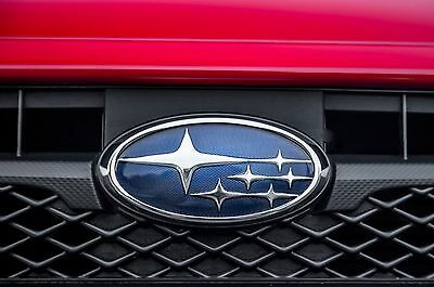 CLEAR Vinyl Emblem Protector Overlays FRONT REAR for 15-20 Subaru WRX STi