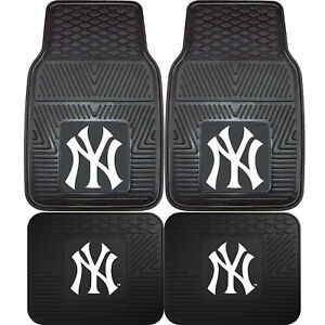 New-MLB-New-York-Yankees-Car-Truck-Front-Back-All-Weather-Rubber-Floor-Mats