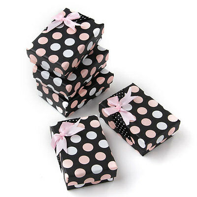 5 X Pink Jewelry Bracelet Ring Display Gift Box Case