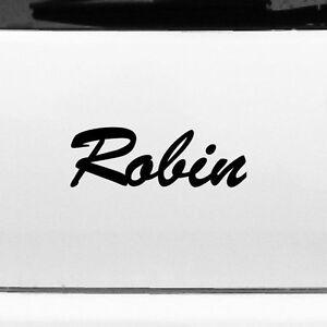 Robin 22cm Children's Room Name Tattoo Sticker Decor Film Car Window Wardrobe