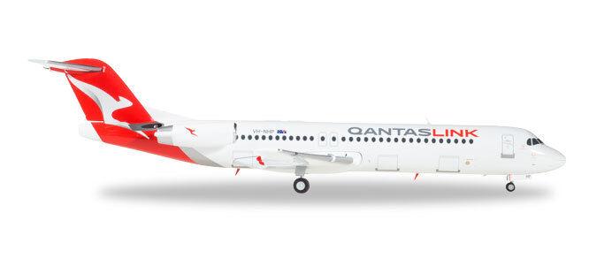Mettre la réduction jusqu'au bout Herpa 559096 - 1/200 Fokker 100-Qantaslink-Neuf | Excellente Qualité  | Coût Modéré  | Grandes Variétés  | Avec Une Réputation De Longue Date
