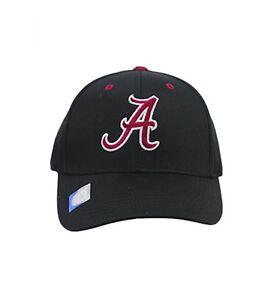 Alabama-Crimson-Tide-Cap-Structured-Adjustable-Black-Hat-NCAA-Headwear
