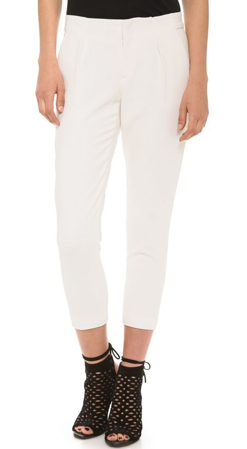 Haute Hippie White Fitted Pants,    375   size 2