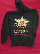 Rolling Stones Knebworth 1976 production crew Zip up hoodie