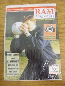 08121992 Derby County v Cremonese AngloItalian Cup  Good condition unless - Birmingham, United Kingdom - 08121992 Derby County v Cremonese AngloItalian Cup  Good condition unless - Birmingham, United Kingdom