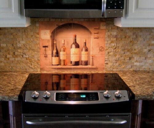 Art Wine Bottles Arch Mural Ceramic Backsplash Kitchen Tile #318