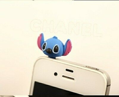 Blue cartoon head 3D 3.5mm Anti Dust Plug Cover Stopper Charm for iPhone 5 4/4s