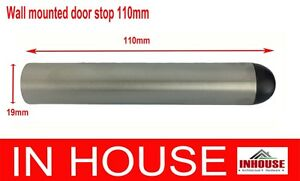 Extra Long Door Stop Stopper Satin Stainless Steel 110mm