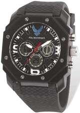 US Air Force Wrist Armor C28 Watch, Black/White Dial & Black Rubber Strap