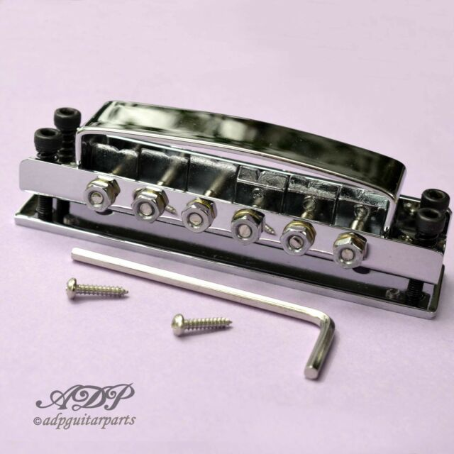 Tailpiece Ricky-Style Guitar Tunematic Bridge For Riickenbacker Chrome