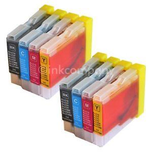 8 Drucker Tintenpatronen für Brother LC1000 DCP130C DCP135C MFC230C MFC235C Set
