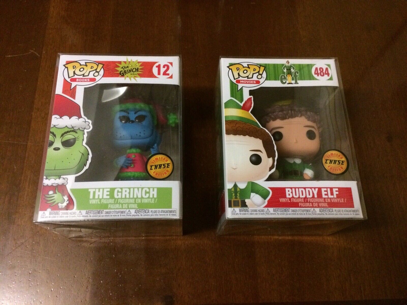 Funko POP CHASE BUDDY ELF + THE GRINCH