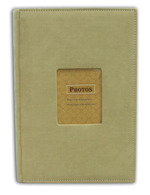 Photo Album, Holds 300 4x6 photos, Suede Cover, Beige