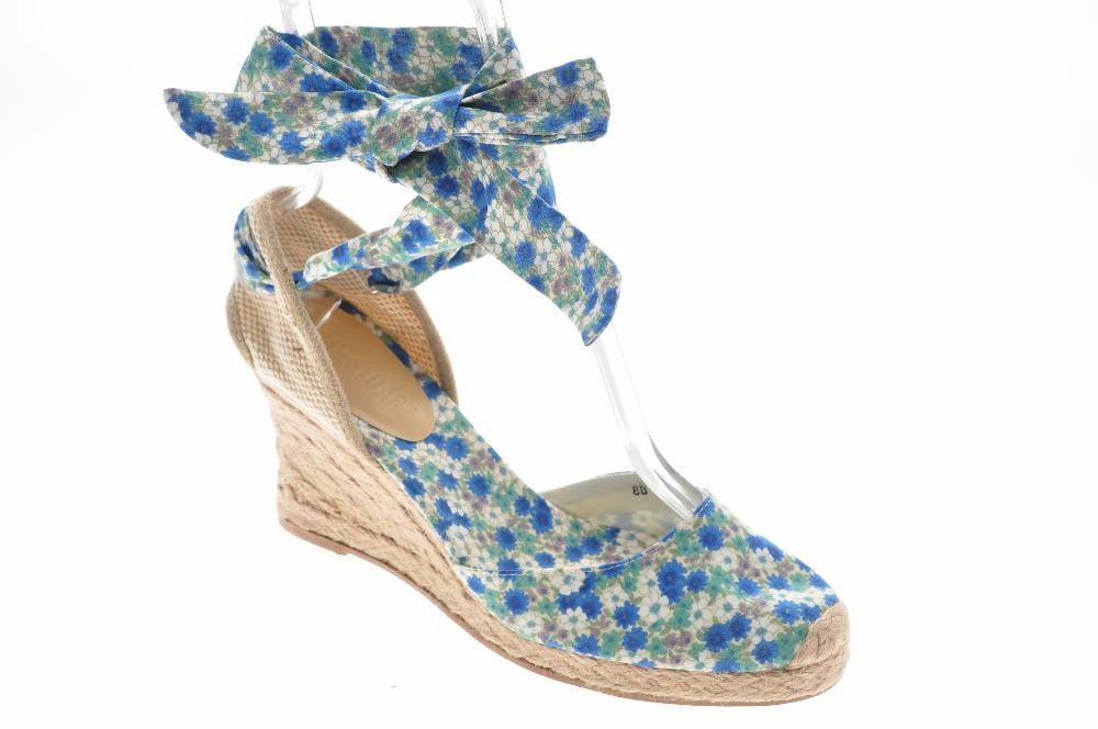 New COLIN STUART Women bluee Fabric Slingback Wedge Wedge Wedge Espadrille Sandal shoes Sz 8 M 9fbd52