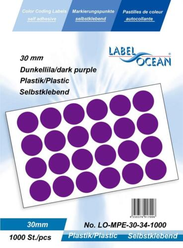 8mm Round Plastic Vinyl dot Stickers Small Coloured Circular Sticky Labels