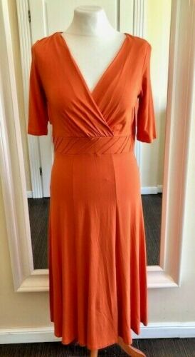 Artigiano Kleid Sommerkleid Strandkleid Viskose papaya 34 36 38 40 42 48 50