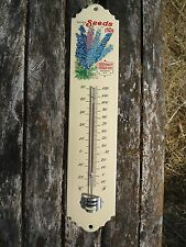 THERMOMETRE EMAILLE 30 CM SEEDS EMAIL VERITABLE 800°C FABR. EN FRANCE AFFAIRE!