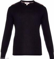 Burberry Brit Men's Black Jarvis Cashmere blend Sweater Sz S BNWT