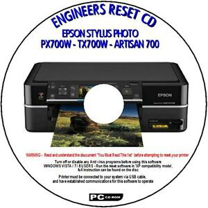 Details about EPSON PX700W TX700W & ARTISAN 700 PRINTER WASTE INK PAD RESET  UTILITY NEW CD ROM