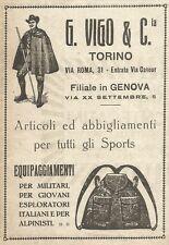 W9079 G. VIGO & C. Torino - Abbigliamento per Sports - Pubblicità del 1917 - Ad