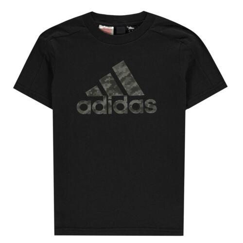 adidas Kids Boys ID T Shirt Junior Crew Neck Tee Top Short Sleeve Cotton