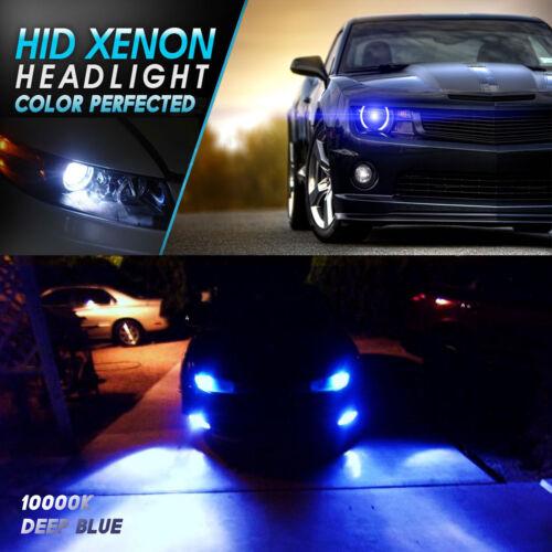 2003-2010 Hummer H3 H2 Headlight Fog Light 9007 H13 Dual Beam HID KIT White Blue