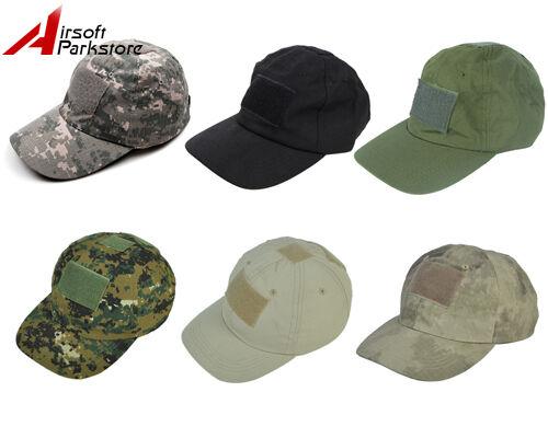 Tactical Military Adjustable Snapback Baseball Cap Hat w/ Loop Attachment Base