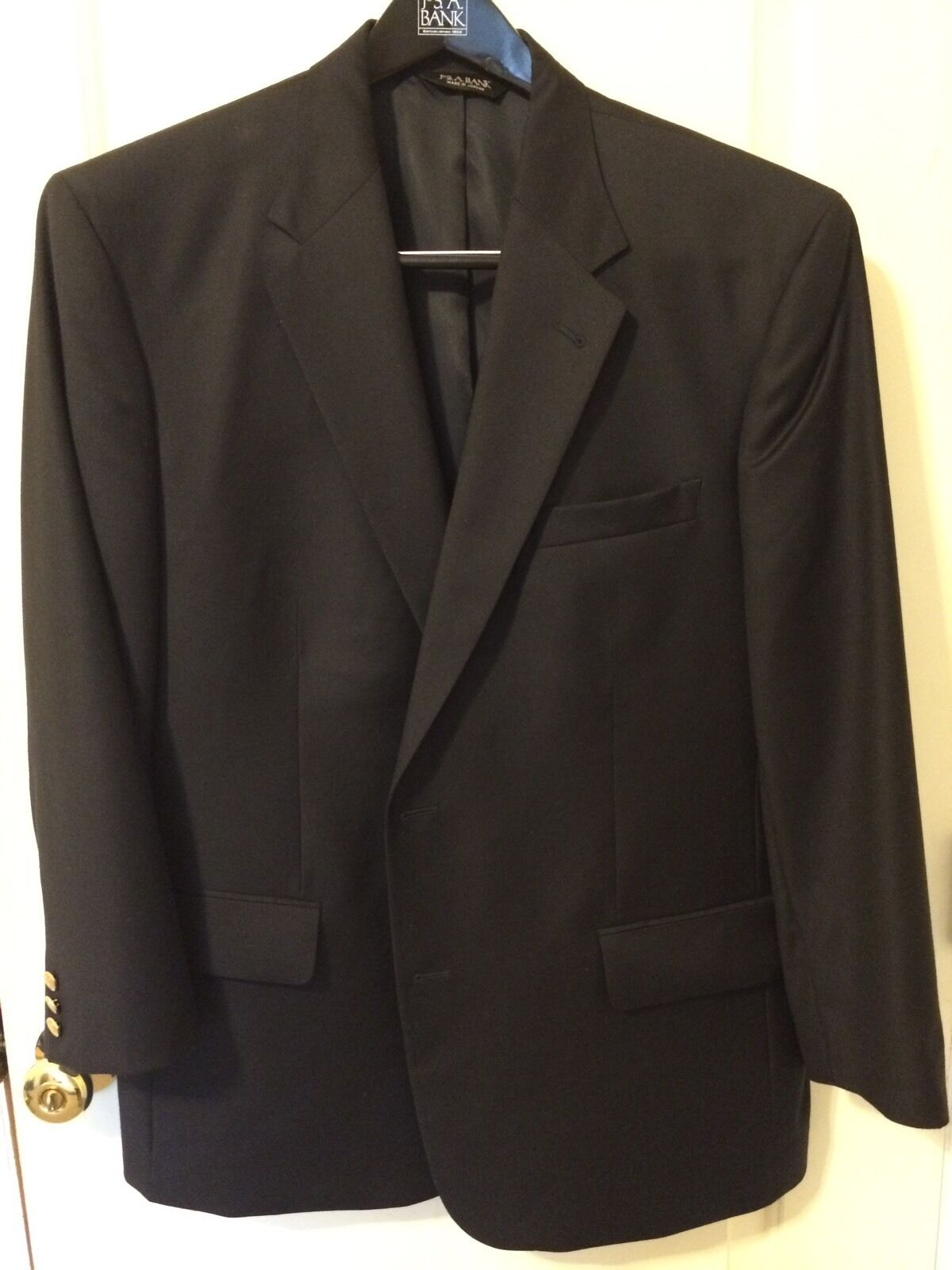 Men's Signature 100% Wool Navy Blazer