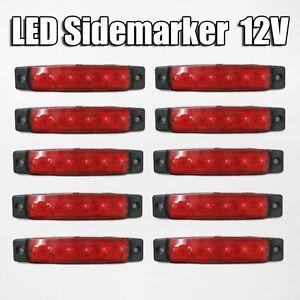 NEW-10-x-12V-Streiflicht-Markierung-gefuehrt-Lampe-LKW-Anhaenger-LKW-Fahrwerk