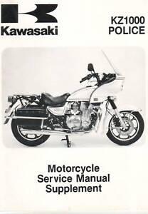 Kawasaki Kz1000 P5 Police Service Manual Supplement Ebay