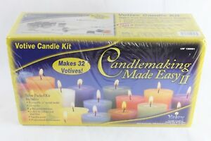 Details about Yaley Candle making Made Easy 2 Kit - Votive Candle Making  Kit Makes 32 Votives