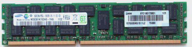Samsung 8GB PC3L-10600R DDR3-1333 ECC RAM M393B1K70DH0-YH9